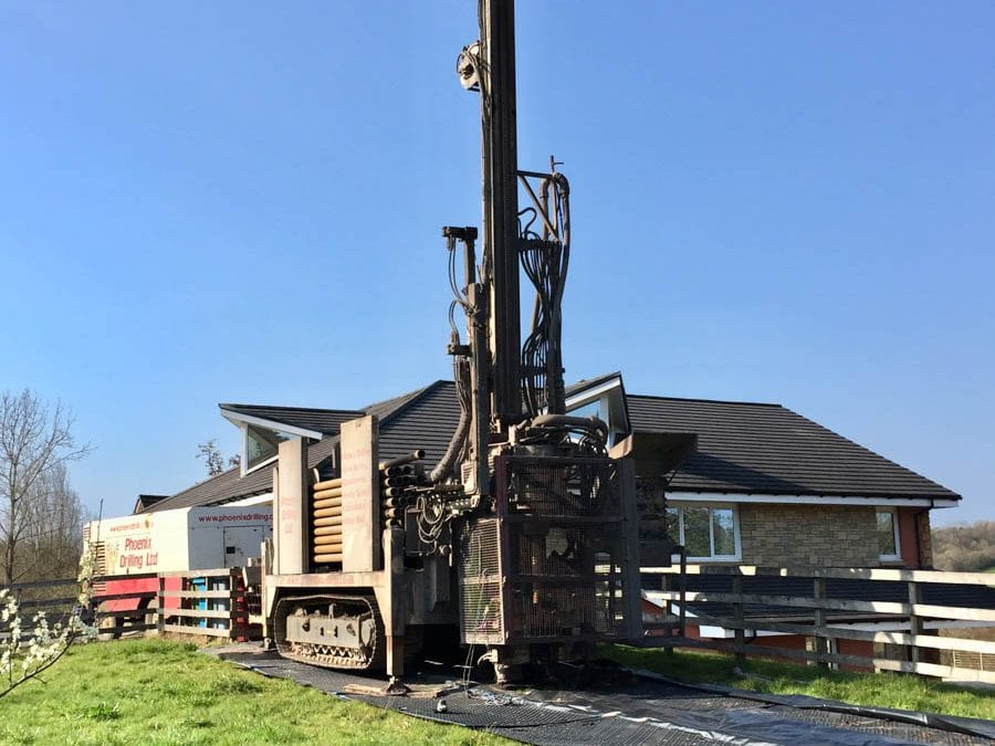 Ground Source Heating Project in South Lanarkshire by Phoenix Drilling, Livingston, West Lothian.